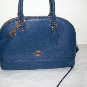Coach Blue Mini Sierra Satchel F57555